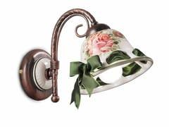 Applique in ceramica con braccio fissoNAPOLI | Applique - FERROLUCE