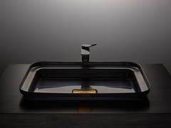 Lavabo rettangolare in acciaio inoxNARCIS BLACK | Lavabo rettangolare - BASSINES
