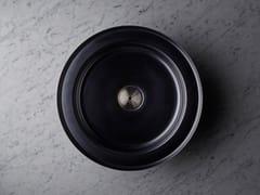 Lavabo da incasso soprapiano rotondo in acciaio inoxNARCIS BLACK | Lavabo rotondo - BASSINES