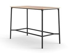 Tavolo alto rettangolare in acciaioNATE S | Tavolo alto - BRUNNER