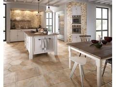 Pavimento/rivestimento in gres porcellanato effetto pietraNATIVE BEIGE - CERAMICA SANT'AGOSTINO