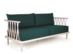 Divano in legno a 2 postiNATURE DOUBLE - FENABEL - THE HEART OF SEATING
