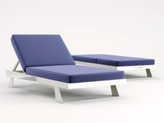 Lettino reclinabile in tessuto Sunbrella® e alluminioNAXOS | Lettino da giardino - CODE