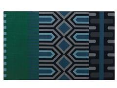 Tappeto rettangolare in lana a motivi geometriciNDEBELE GREEN - GAN BY GANDIA BLASCO