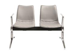 Seduta su barra a pavimento in pelle con braccioli senza schienaleNEBRASKA | Seduta su barra - AP FACTOR