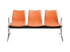 Seduta su barra a pavimento in pelle con braccioli senza schienaleNEBRASKA | Seduta su barra a pavimento - AP FACTOR