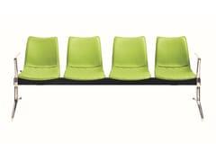 Seduta su barra a pavimento in pelle con braccioli senza schienaleNEBRASKA | Seduta su barra in pelle - AP FACTOR