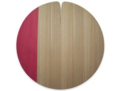 Tovaglietta rotonda in legnoNELUMBO COLORS RED | Tovaglietta - LEONARDO TRADE