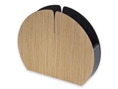 Portatovagliolo in legnoNELUMBO WARM OAK | Portatovagliolo - LEONARDO TRADE