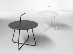 Tavolino luminoso rotondo in metallo verniciatoNEMESI - BONALDO