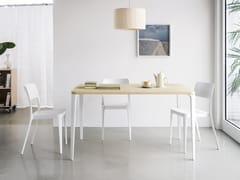 Tavolo rettangolare in legno impiallacciato per contractNENÉ | Tavolo rettangolare - MIDJ