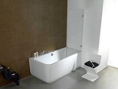 Parete per vasca in vetro NEO 2B - SYSTEMPOOL KRION® PORCELANOSA SOLID SURFACE