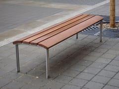 Panchina in legno senza schienaleNEOROMÁNTICO LIVIANO | Panchina senza schienale - URBIDERMIS