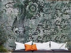 Wall&decò, NERO DI CHINA Carta da parati per esterni