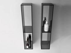 Pensile bagno a giorno sospeso in vetro NEROLAB | Pensile bagno a giorno - Nerolab