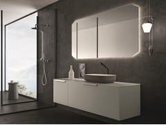 Mobile lavabo laccato singolo con cassetti NEROLAB | Mobile lavabo singolo - Nerolab