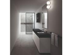Mobile lavabo sospeso in laminato con specchio NEROLAB | Mobile lavabo sospeso - Nerolab