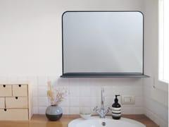 Specchio in acciaio con mensola da pareteNESSIE - HIRO