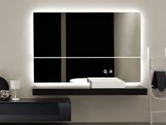 Antonio Lupi Design, NTKIT50W180 Specchio rettangolare con illuminazione integrata da parete