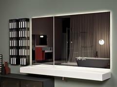Antonio Lupi Design, NEUTROKIT Specchio da parete con mensola per bagno