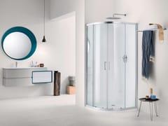 Box doccia semicircolare in vetro con porta scorrevole NEW CLAIRE - 7 - New Claire