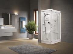 Box doccia angolare con idromassaggio con porta scorrevole NEW HOLIDAY 2P 120X80 - New Holiday