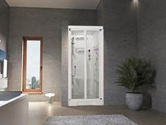 Box doccia a nicchia con idromassaggio con porta a soffietto NEW HOLIDAY BI100 - New Holiday