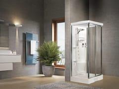 Box doccia angolare con idromassaggio con porta a soffietto NEW HOLIDAY S2 F100 - New Holiday