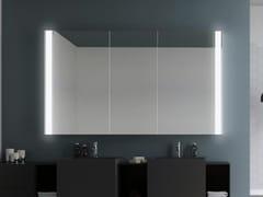 DDL, NEW YORK Specchio da parete con contenitore e illuminazione integrata