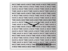 Orologio in lamiera da pareteNICE TIME - DESIGNOBJECT.IT
