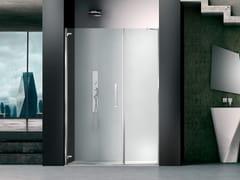 Box doccia a nicchia in vetro con porta a battentePRISMA 1.0 | Box doccia a nicchia - MEGIUS