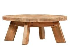 Tavolino fatto a mano rotondo in pinoNIGELLA - ARREDIORG