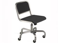 Sedia girevole in alluminio con ruote NINE-O™ | Sedia con ruote - Nine-O™