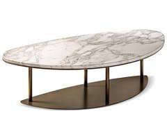 Tavolino basso da caffè in marmo in stile modernoNINFEA | Tavolino in marmo Calacatta - CANTORI