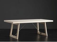 Tavolo da pranzo rettangolare in legno NIZZA + FLAT/ TIRANTI - ECOLAB 2