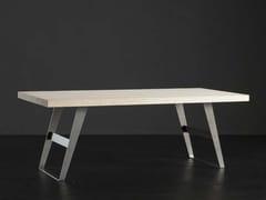 Tavolo da pranzo rettangolare in legno NIZZA + IRON - ECOLAB 2