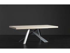 Tavolo da pranzo rettangolare in legno NIZZA + METAL - ECOLAB 2