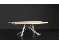 Tavolo da pranzo rettangolare in legno NIZZA + METAL/LEGNO - ECOLAB 2