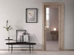 Porta a battente in vetro con cerniere a scomparsa NO LIMITS | Porta in vetro - Moderno