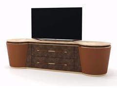 Mobile TV in pelle con cassettiNOIR | Mobile TV - TURRI