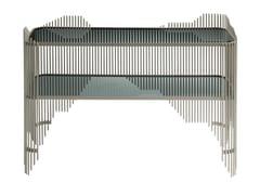 Consolle rettangolare in acciaio e vetroNOISE | Consolle - ROCHE BOBOIS
