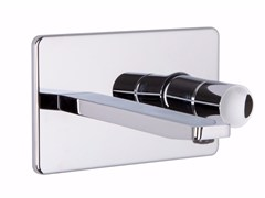Miscelatore per lavabo a muro in ottone cromato NOMOS GO F4201X5 | Miscelatore per lavabo - Nomos Go