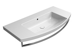 Lavabo singolo in ceramica con porta asciugamaniNORM 100X52 | Lavabo - GSI CERAMICA