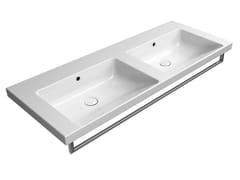 Lavabo doppio rettangolare in ceramicaNORM 125X50 DB | Lavabo - GSI CERAMICA