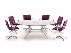 Tavolo da riunione rotondo con sistema passacavi NOTABLE MEETING | Tavolo da riunione rotondo - NoTable