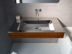 Lavabo in acciaio inox e legno con porta asciugamaniNOVANTA - COMPONENDO