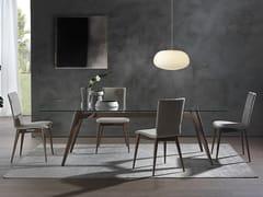 Tavolo rettangolare NOVECENTO | Tavolo in legno e vetro -