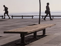 Panchina in legno senza schienaleNU | Panchina senza schienale - URBIDERMIS
