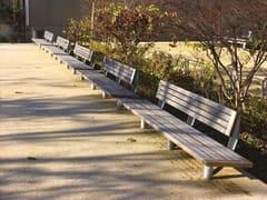 Panchina in legno con schienaleNU | Panchina con schienale - URBIDERMIS
