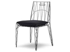 Sedia impilabile in acciaio con cuscino integratoNUA - EPÒNIMO